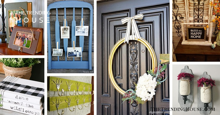 19 Recycled Home Decor Crafts For A Budget Friendly