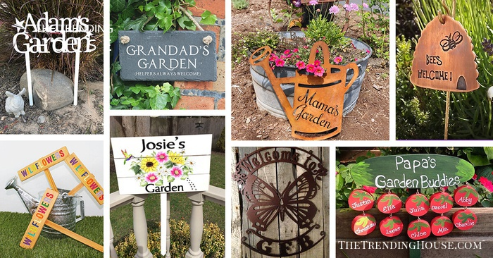 30 Adorable Garden Sign Ideas To Make Your Outdoor More Charming