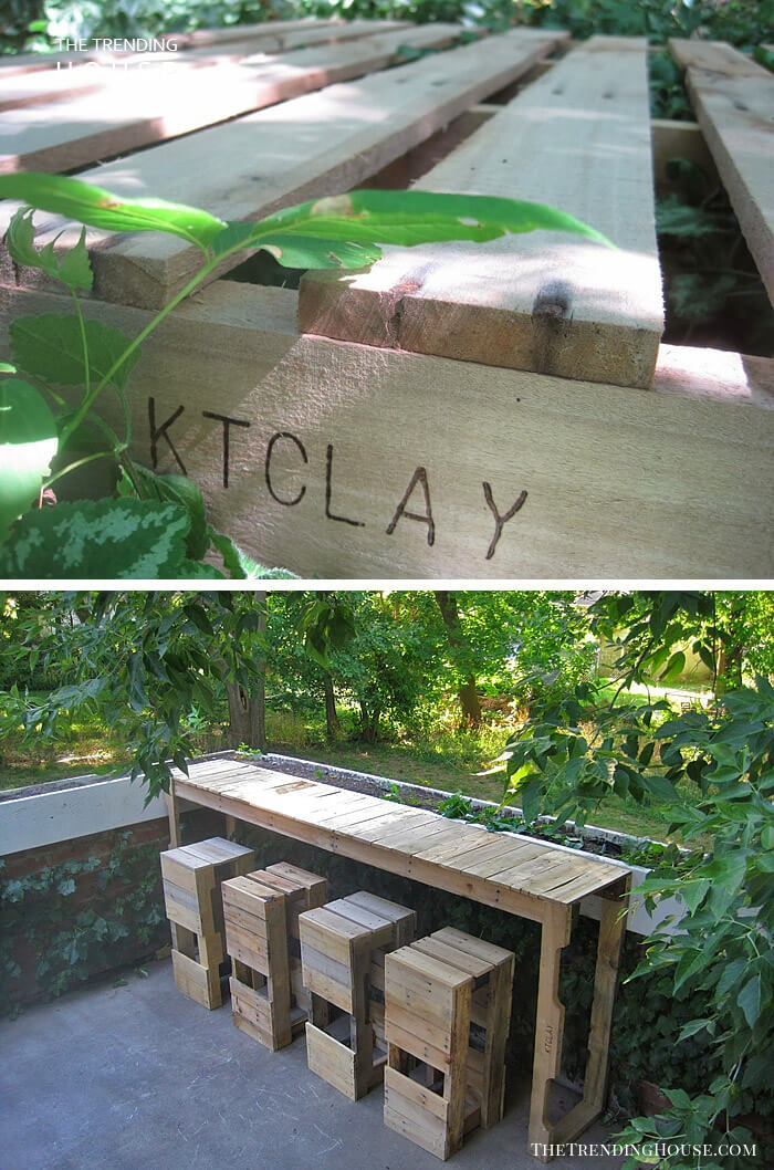 A Bar of Pallets for Your Garden