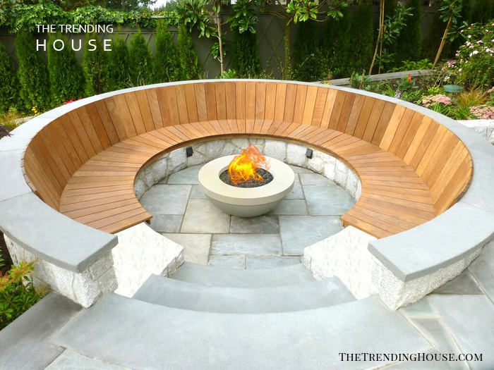 A Chic Firepit with Plenty of Seating