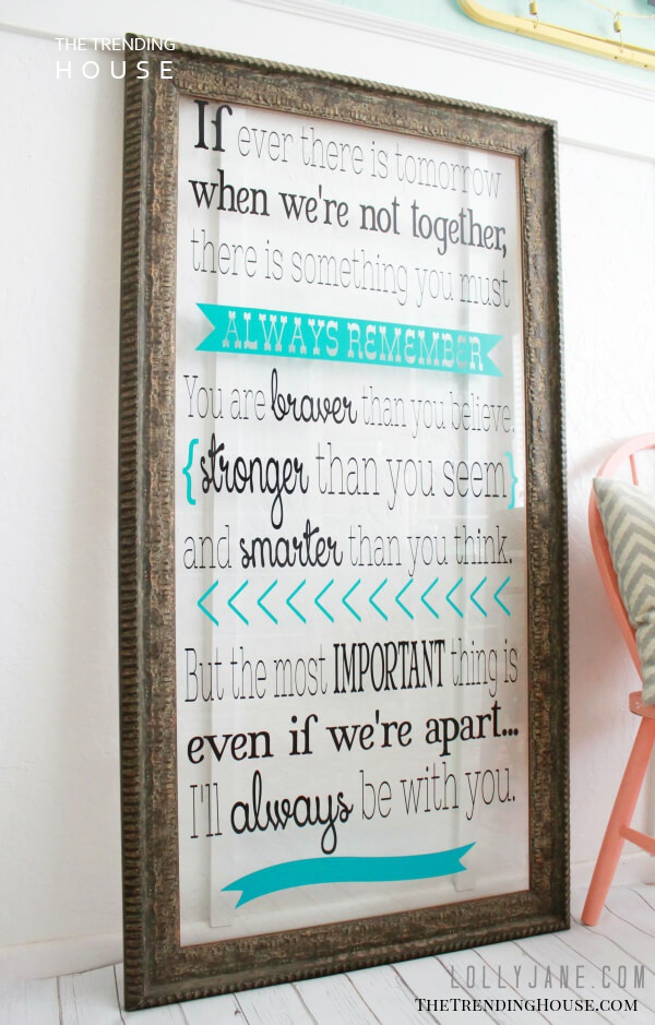 A Favorite Quote Framed in Rustic Elegance