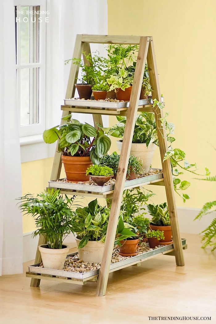 A-Frame Shelf Herb Garden