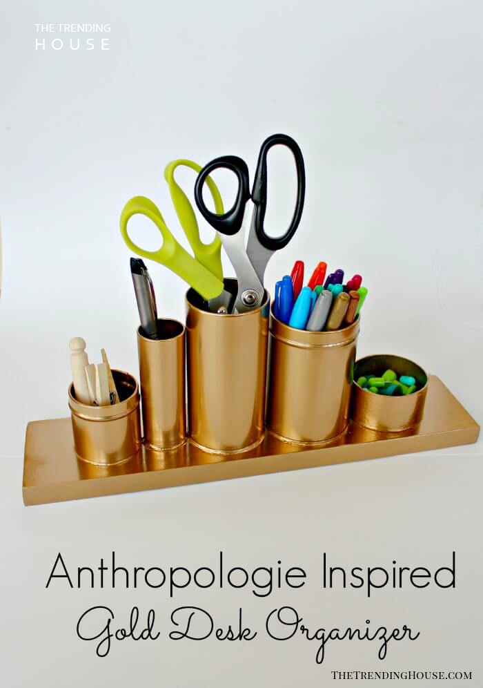 A Gold Desk Organizer to Accent Your Style