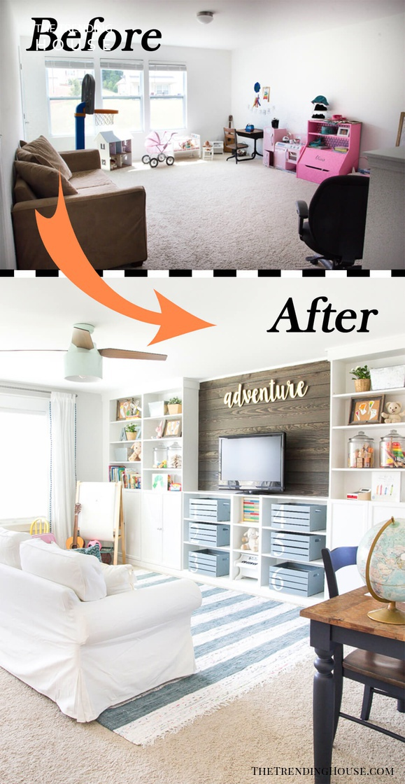 Image of: Before And After 26 Budget Friendly Living Room Makeovers To Inspire You The Trending House