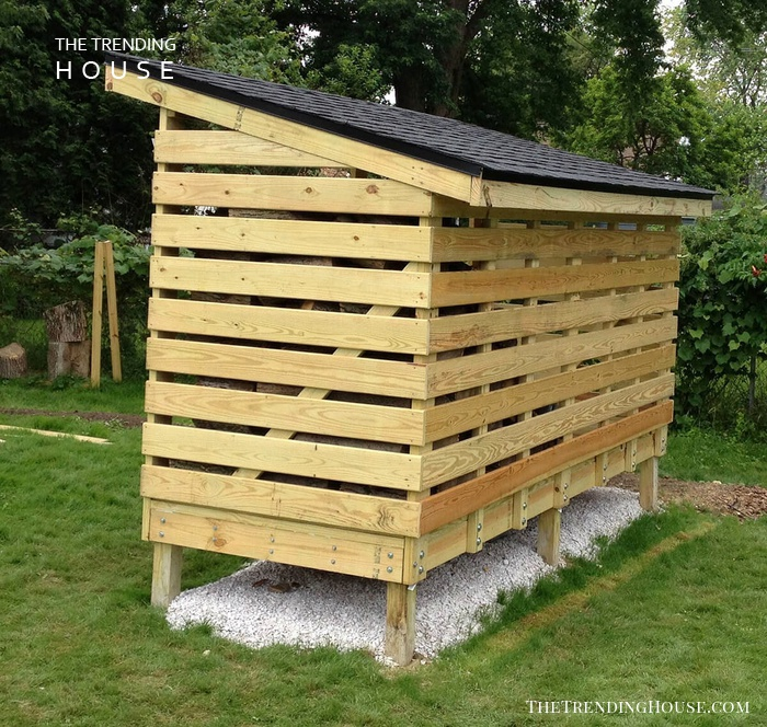A Raised Storage Space in the Yard