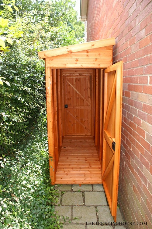 A Small Wooden Cabinet for Garden Essentials