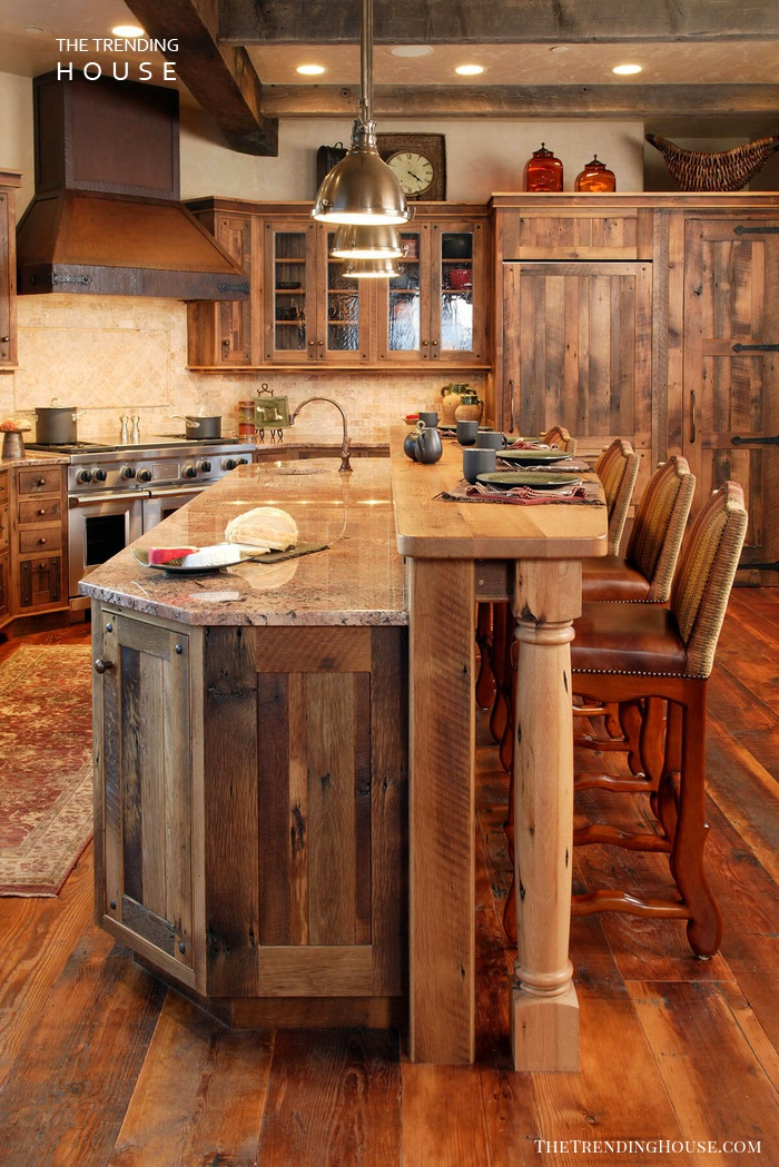 A Walk In The Woods Paneled Kitchen