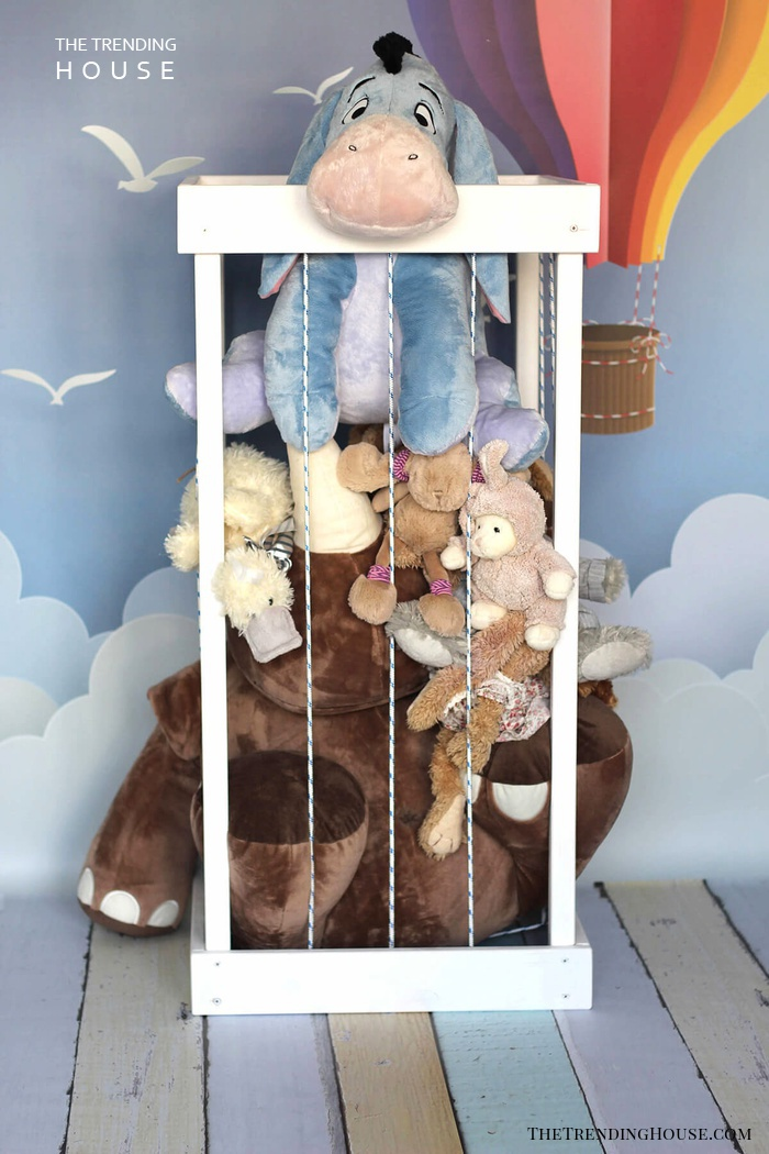 Adorable Toy Zoo Stuffed Animal Storage Idea