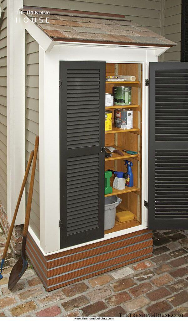 An Add-On Storage Space with Shudder-Style Doors