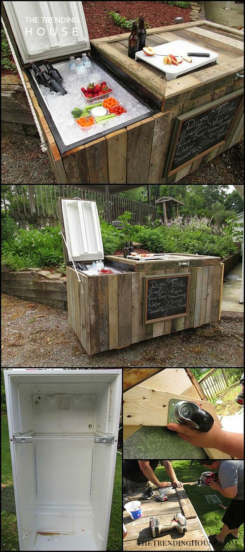 An Ice Box Lined with Driftwood
