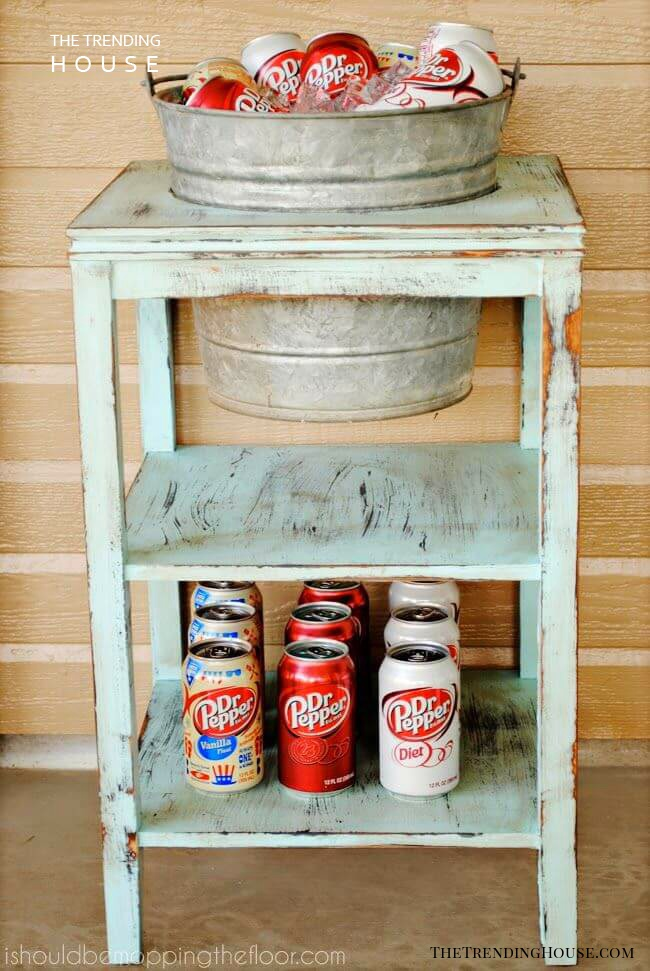 An Old Stand with a Bucket Cooler