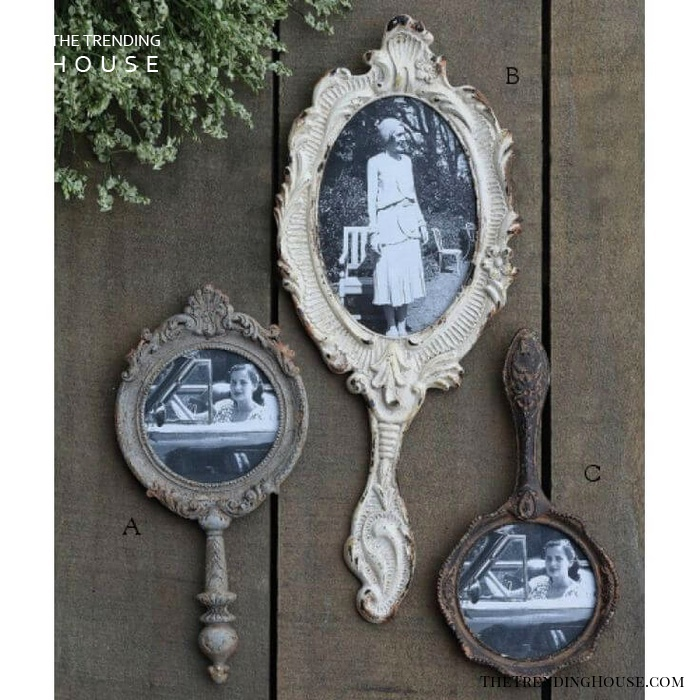 Antique Hand Mirrors Make Gorgeous Frames