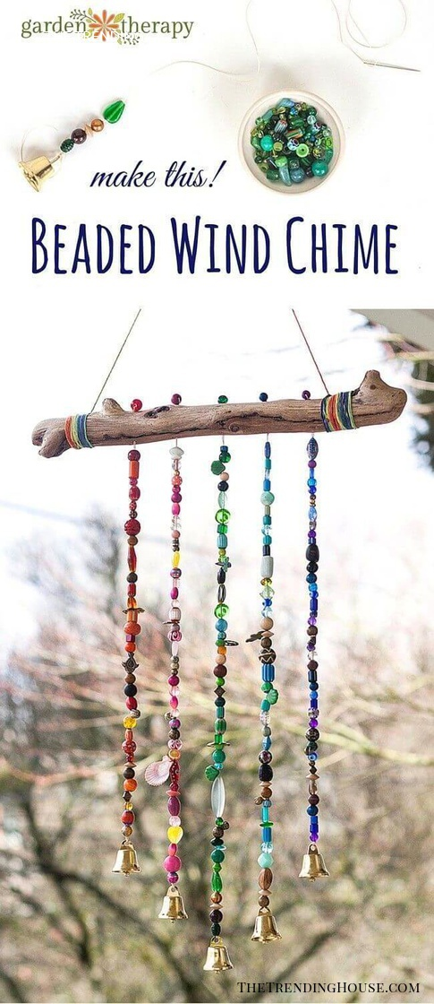Beaded Bough Wind Chime