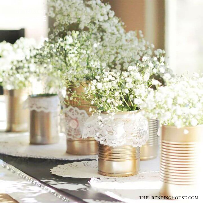 Beautiful Baby's Breath with Aluminum