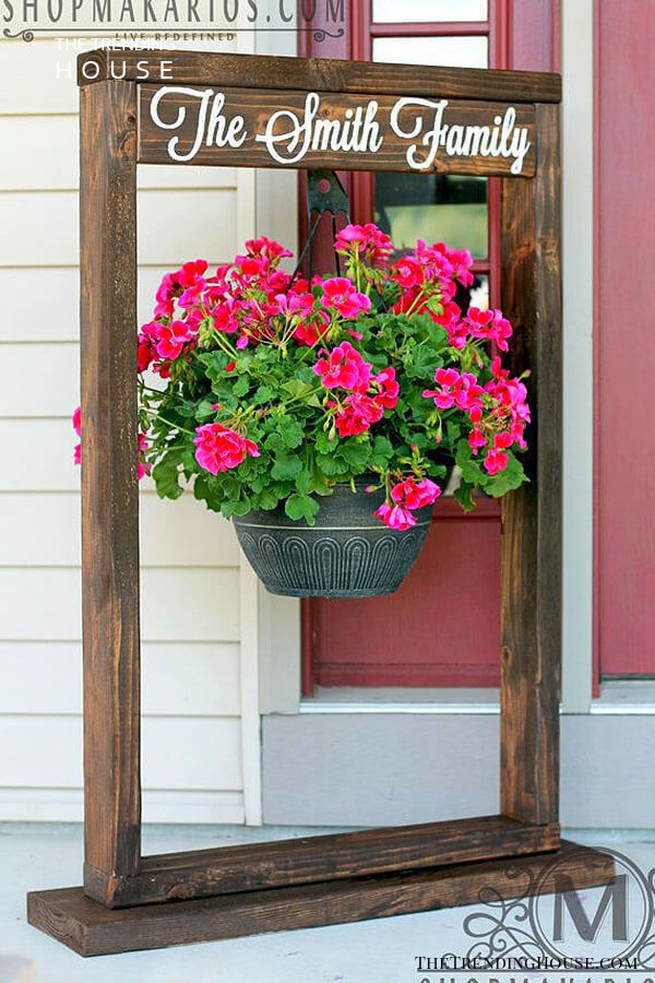 Beautiful Personalized Flower Pot Frame