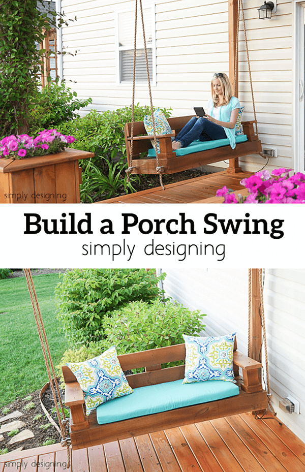 Beautiful/Buildable Wooden Porch Swing