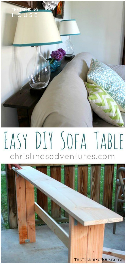 Beginner Friendly Simple 2×4 Sofa Table