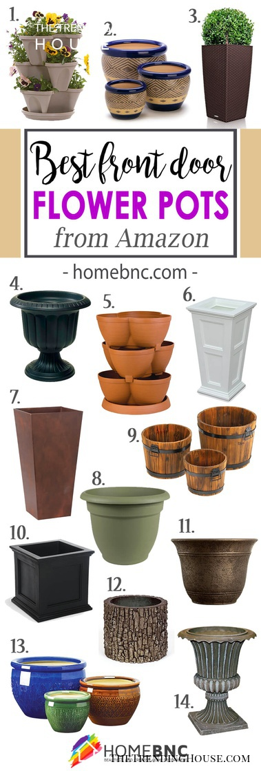 Our Favorite Front Door Flower Pots to buy on Amazon