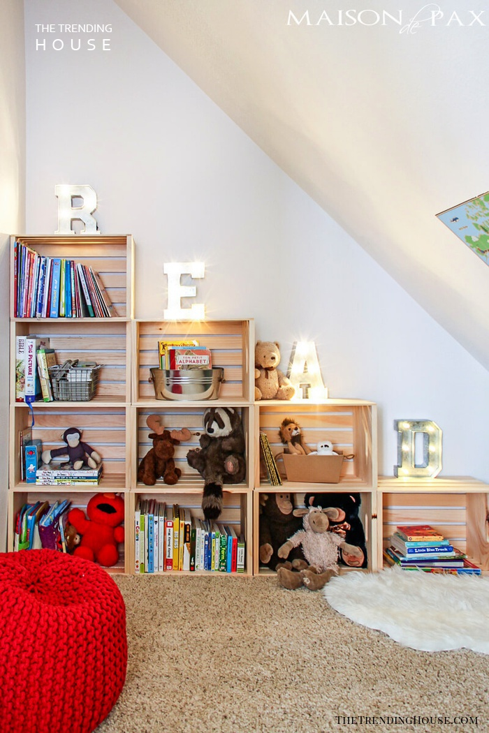 Big Bookshelf with Oversized Letters