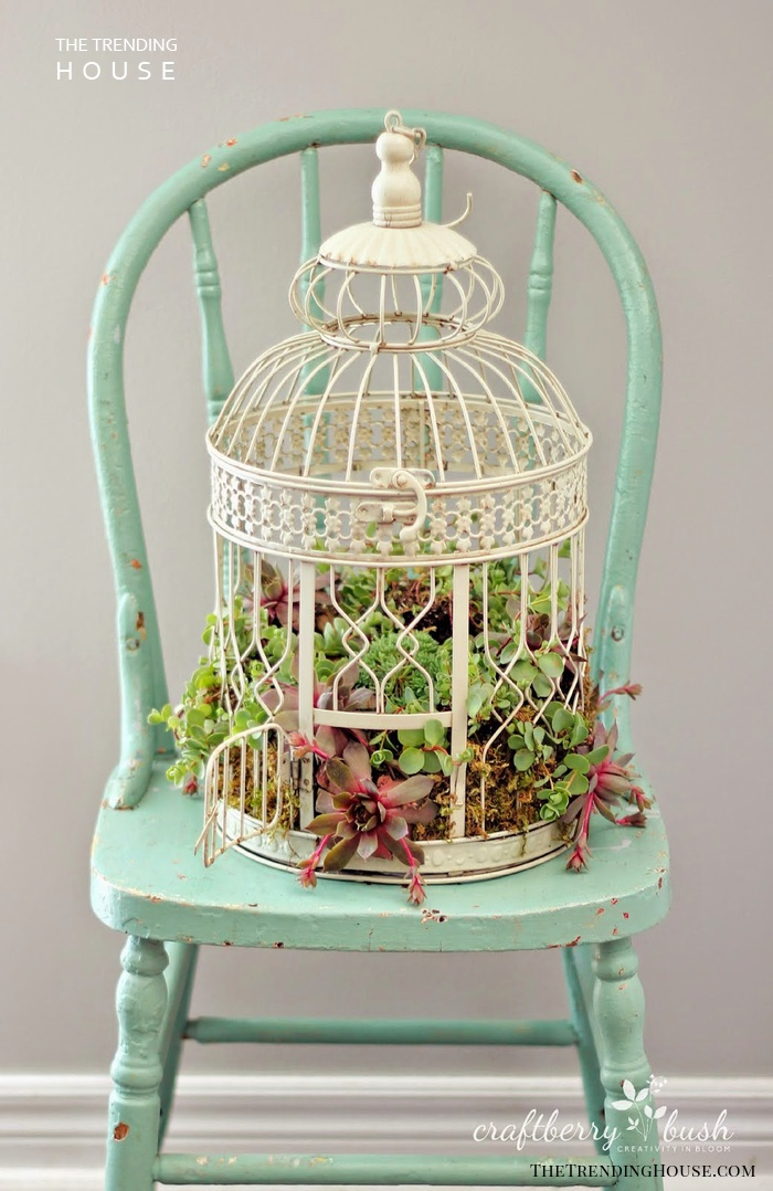 The Cutest Birdcage Planter You Will Ever See