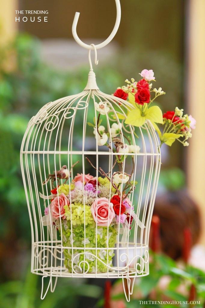 Shabby Chic Birdcage Planter Design