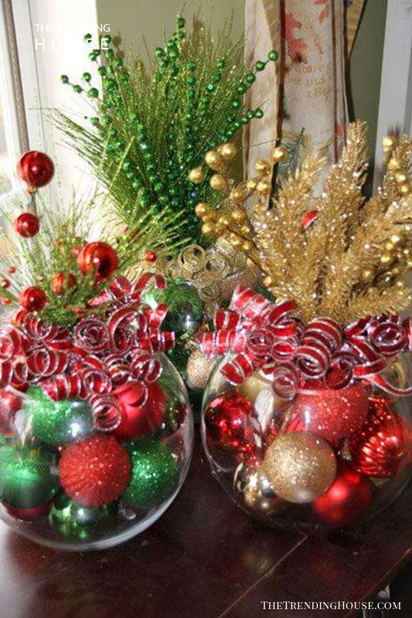 Bling Crystal Bowls of Glittering Ornaments