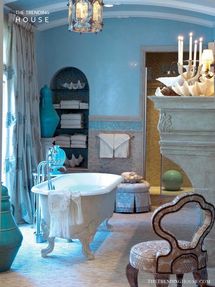 Blue Coastal Bathroom Idea