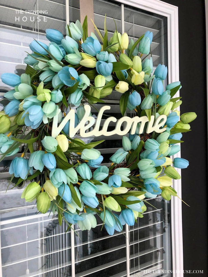 Blue Tulips and Bold Font