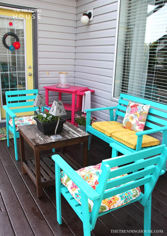 Bright and Playful Summer Porch