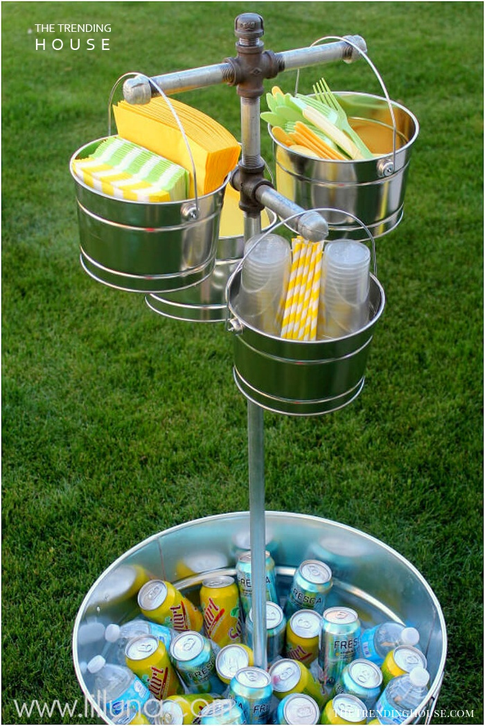 Bucket Tree for Parties in Your Yard