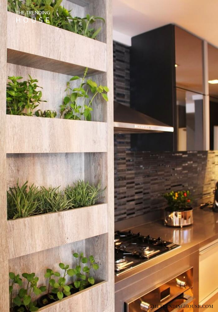 Built-In 'Mini Bookshelf' Herb Garden