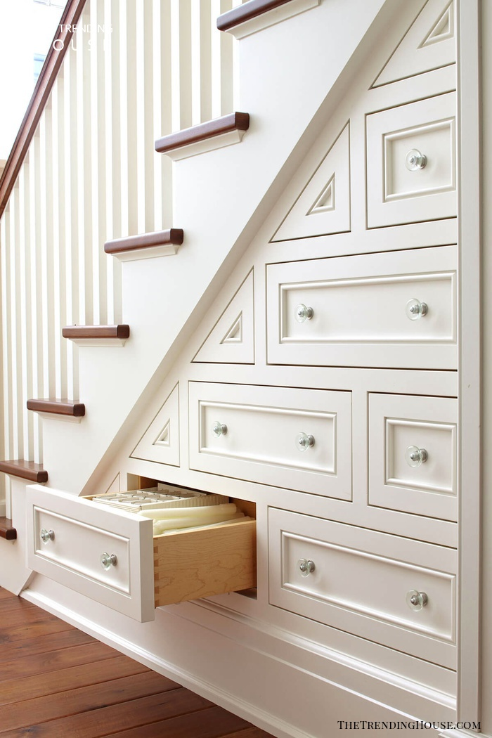 Built-in Staircase Chest of Drawers