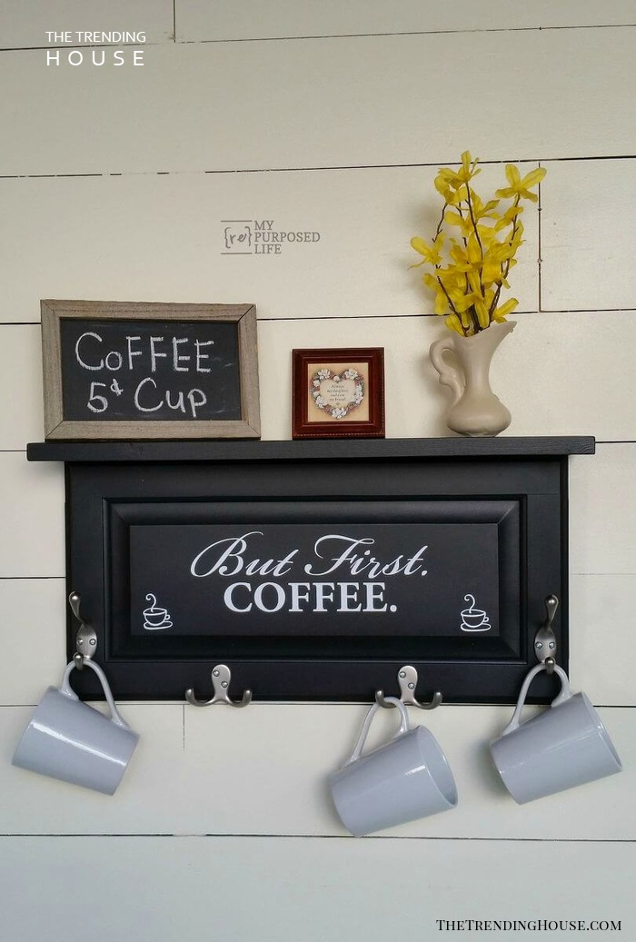 But First Coffee Cabinet Door Sign