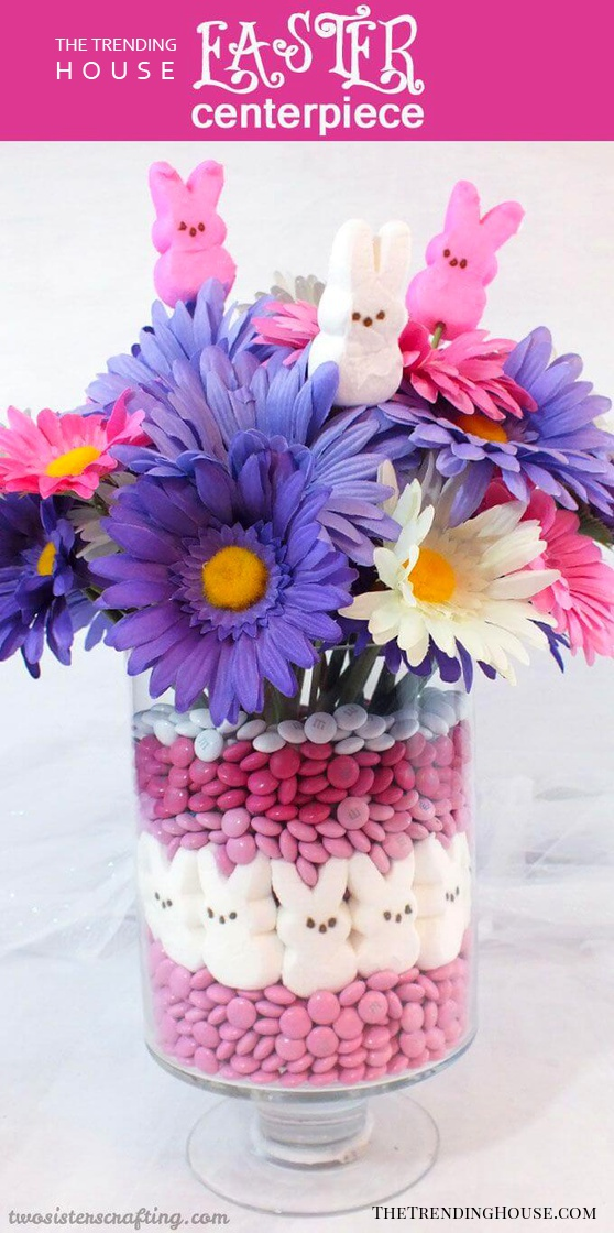 Candy and Flowers Easter Centerpiece