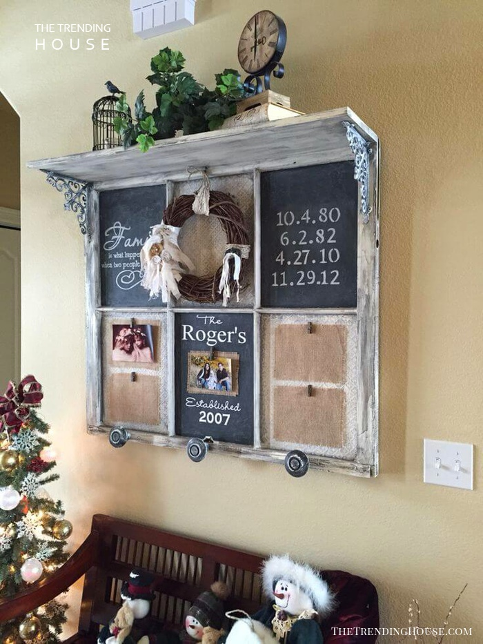 Chalkboard and Chalk Paint Family Photo Display