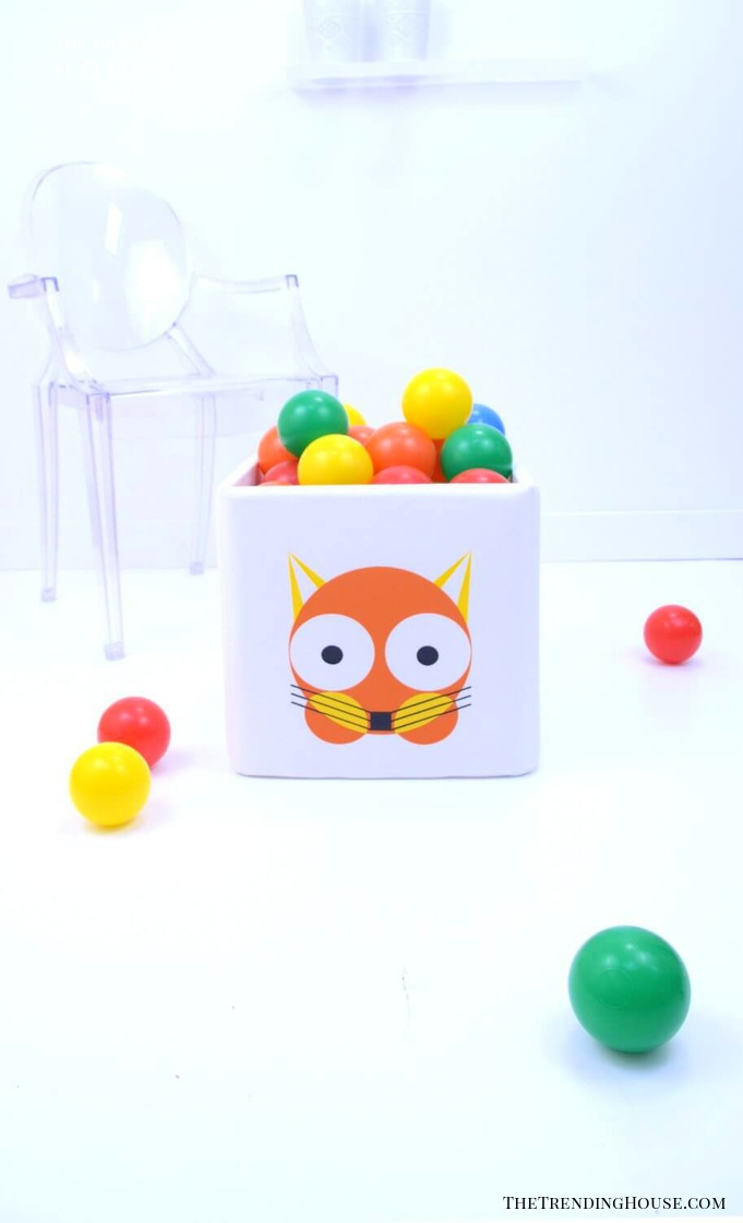 Charming Fox-Themed Toy Storage Cubes