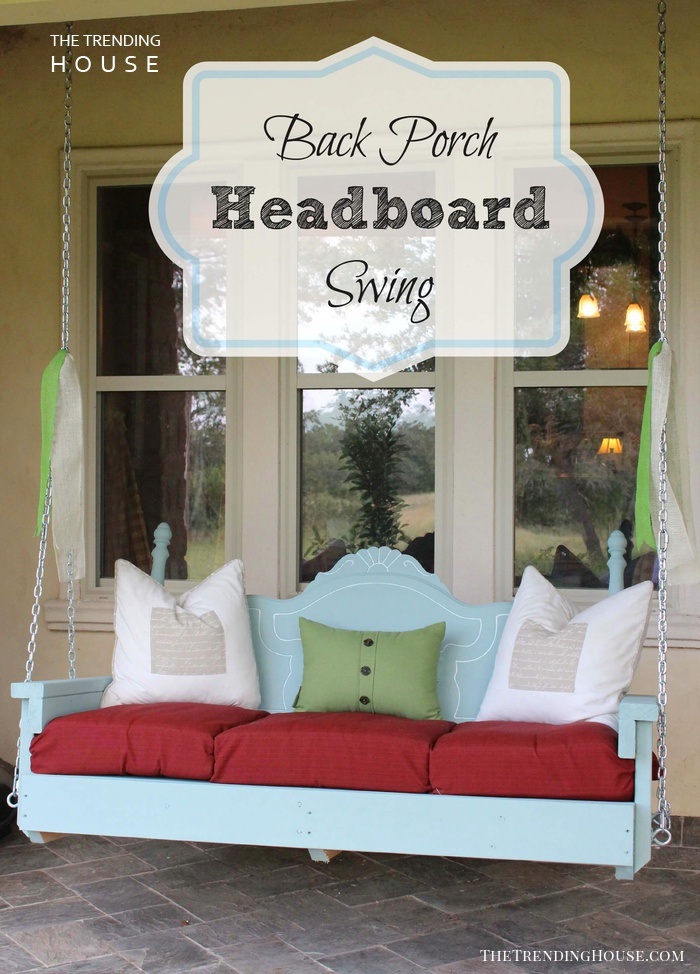 Charming Repurposed Headboard Swing