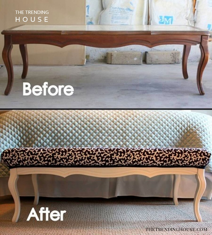 Chateau-Chic Repurposed Coffee Table