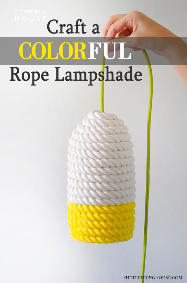 Chunky Rope Colorful Lampshade