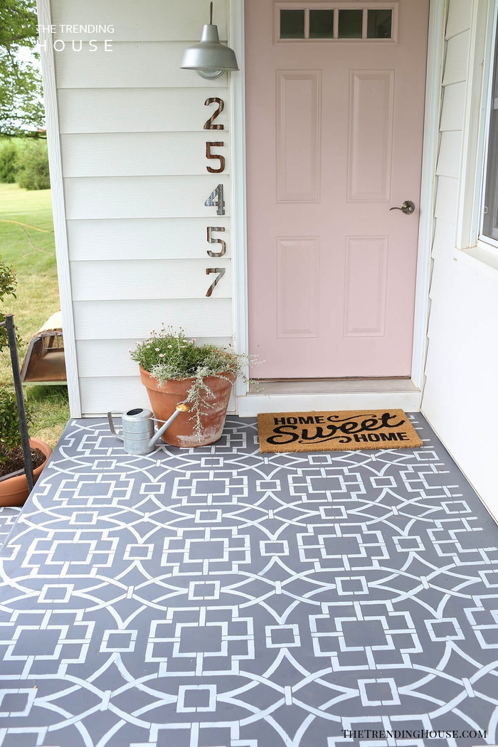 Classic Pattern Painted Porch Deck
