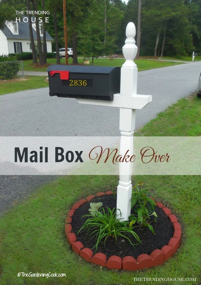 Classy White Post with Flower Garden
