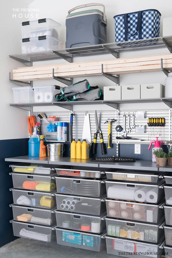 Clear Totes, a Workspace, and Extra Storage