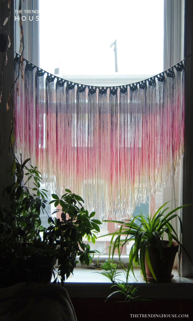 Colorful Hanging Threads and Plants