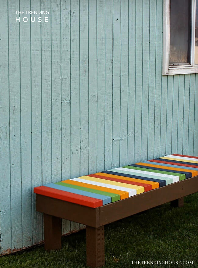 Colorful Taste of Central America Bench