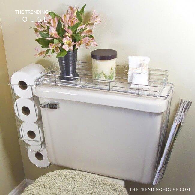 Commode Shelf Keeps the Necessities Close By