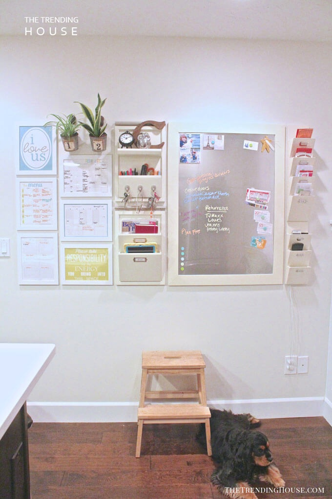 Complete Wall-Mounted Command Center with Magnetic Board