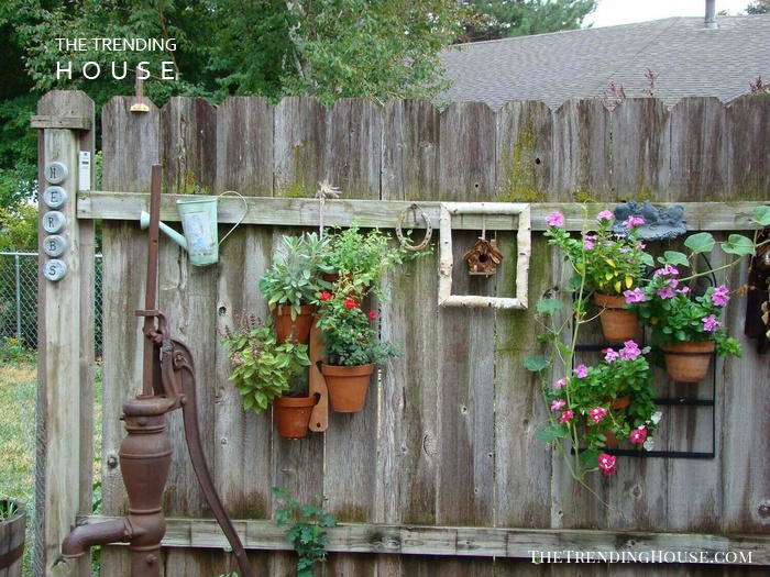 Cottage Style Hanging Fence Planters