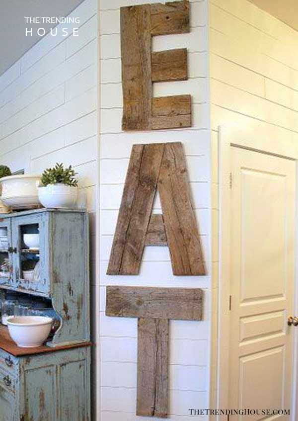 Country Diner Barn Wood Kitchen Sign