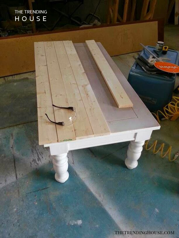 Country Parlour Wood Paneled Coffee Table