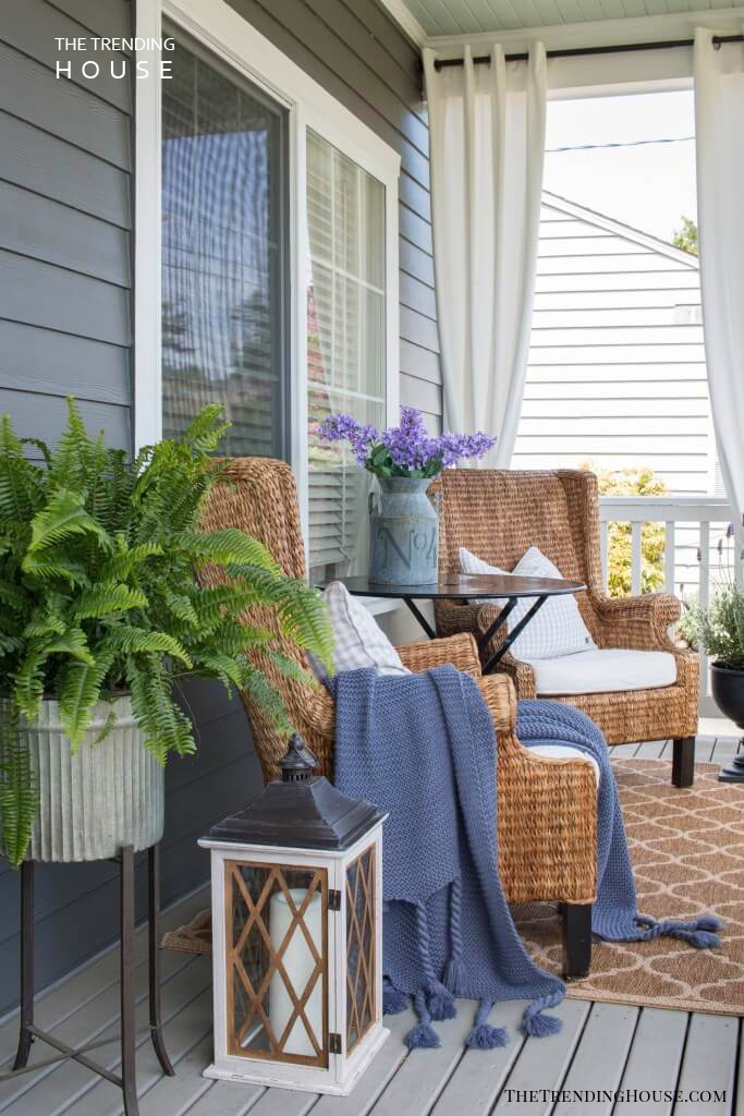 Cozy French Farmhouse Porch for Two